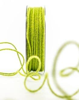 Juteschnur mit Draht, grün, 2 mm breit - zierkordeln