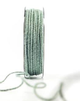 Juteschnur mit Draht, türkis, 2 mm breit - zierkordeln