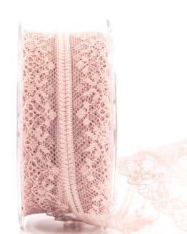 Feine Spitze, altrosa, 40 mm breit - spitzenbaender, hochzeit