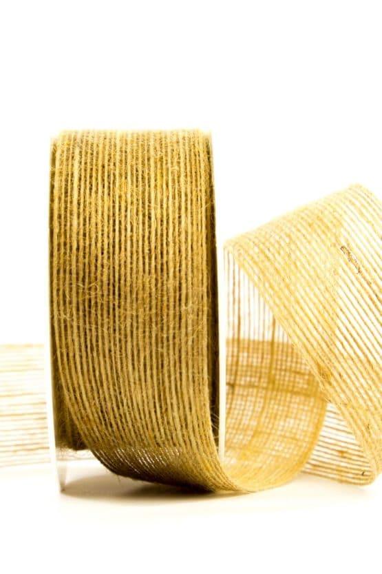 Juteband natur, 40 mm breit - juteband, geschenkband-einfarbig, geschenkband, dekoband, andere-baender