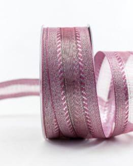 Elegantes Weihnachtsgeschenkband, lila, 40 mm breit - weihnachtsband, geschenkband-weihnachten-einfarbig, geschenkband-weihnachten