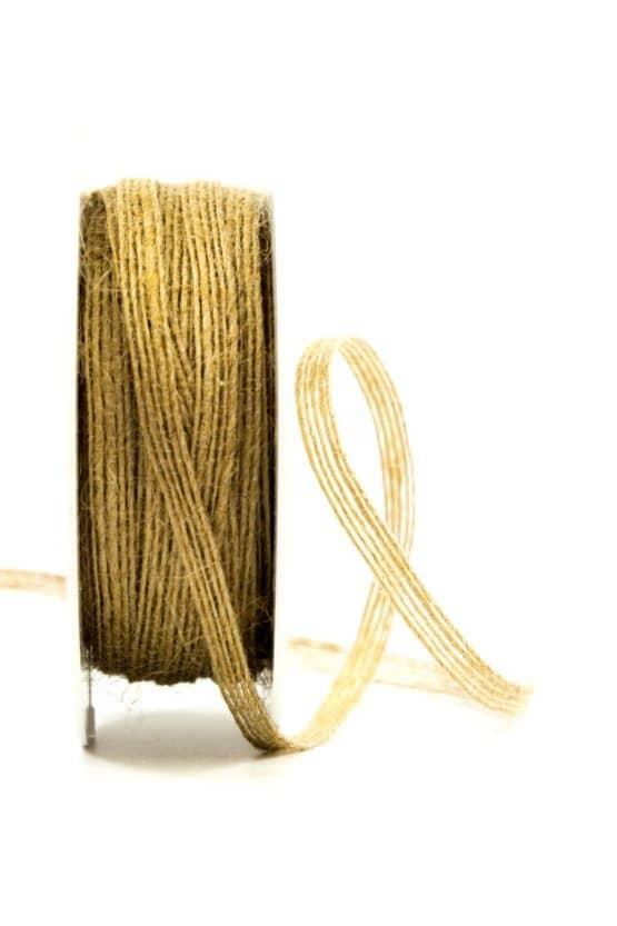 Juteband natur, 5 mm breit - juteband, geschenkband-einfarbig, geschenkband, dekoband, andere-baender