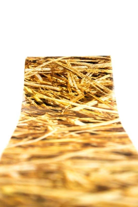 Vliesband Stroh, 80 mm breit - vliesband, dekoband