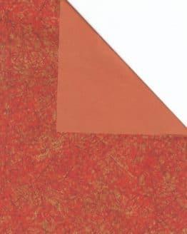 Geschenkpapier-Bogen terra / gold, 70 x 100 cm - geschenkpapier