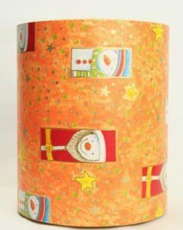 Geschenkpapier Secaré-Rolle orange-bunt, 20 cm - 250 m Rolle - geschenkpapier