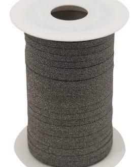 Glamour Glitzer-Kräuselband, braun, 5 mm breit - polyband