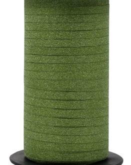 Glamour Glitzer-Kräuselband, fresh green, 5 mm breit - polyband