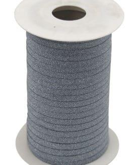 Glamour Glitzer-Kräuselband, hellblau, 5 mm breit - polyband