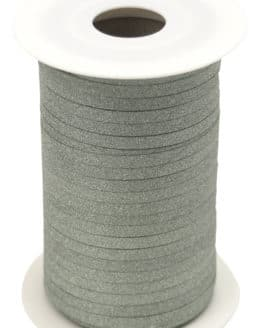 Glamour Glitzer-Kräuselband, hellgrün, 5 mm breit - polyband