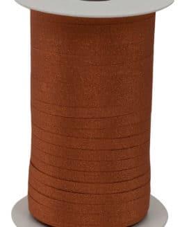 Glamour Glitzer-Kräuselband, kupfer, 5 mm breit - polyband