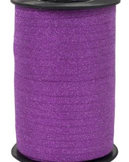 Glamour Glitzer-Kräuselband, pink, 5 mm breit - polyband