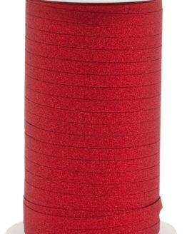 Glamour Glitzer-Kräuselband, rot, 5 mm breit - polyband