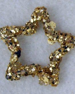 Glitzerstern gold, ca. 35mm - accessoires
