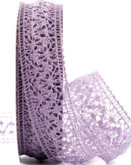 Häkelspitze, lila, 38 mm breit - spitzenbaender