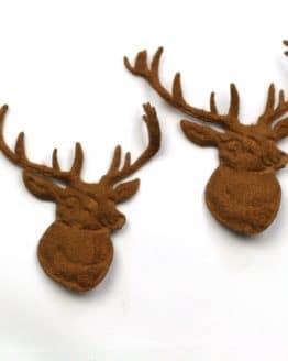 Hirschkopf braun, 80 mm, 20 Stück - accessoires