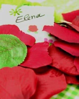 Künstliche Rosenblätter, dunkelrot - hochzeitsdeko