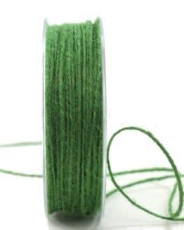 Jute-Kordel/Schnur, dunkelgrün, 1,5 mm breit - zierkordeln