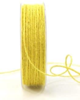 Jute-Kordel/Schnur, gelb, 1,5 mm breit - zierkordeln