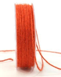 Jute-Kordel/Schnur, orange, 1,5 mm breit - zierkordeln
