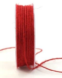 Jute-Kordel/Schnur, rot, 1,5 mm breit - zierkordeln