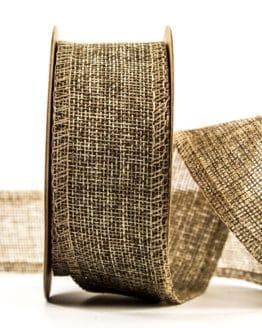 Edel-Juteband, natur, 40 mm breit - juteband