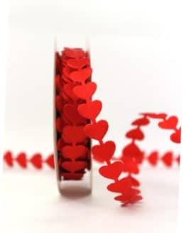 Rote Herzen-Girlande, 15 mm breit - valentinstag, muttertag, hochzeitsdeko, geschenkband-mit-herzen