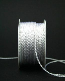 Zierkordel weiß, 2 mm - zierkordeln, hochzeit