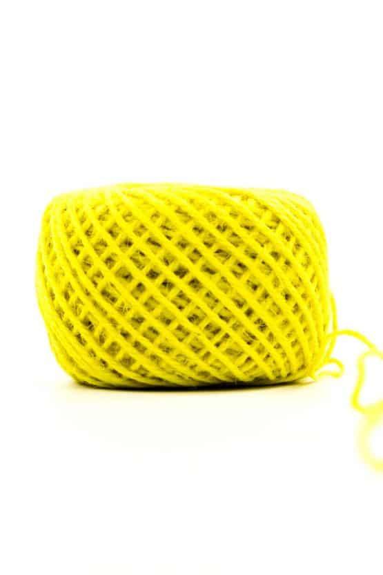 Jutekordel gelb, 1 mm stark - kordeln