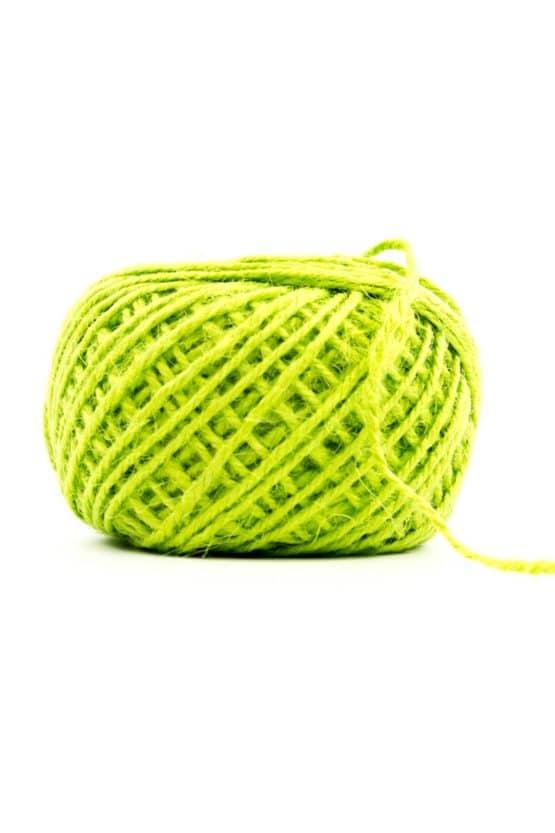 Jutekordel grün, 1 mm stark - kordeln