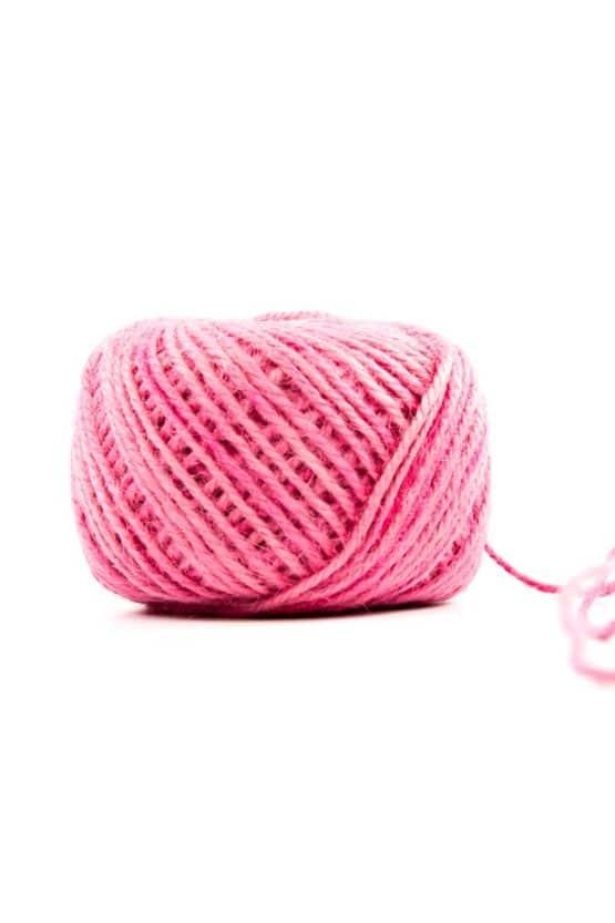 Jutekordel pink, 1 mm stark - kordeln