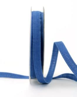 Leinenband jeansblau, 10 mm - dekoband