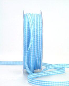 Vichy-Karoband hellblau, 6 mm breit - karoband, karierte-baender, geschenkband-kariert