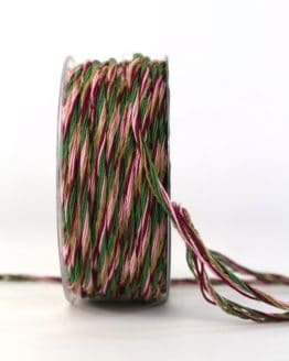 Multi-Kordel rosa-lila, 3 mm breit - weihnachtsband, geschenkband-weihnachten