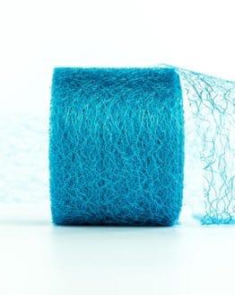 Netzband, türkis, 70 mm breit - outdoor-baender, netzband, geschenkband-einfarbig, dekoband