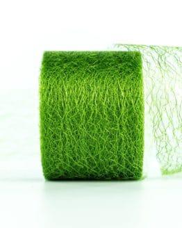 Netzband, grün, 70 mm breit - outdoor-baender, netzband, geschenkband-einfarbig, dekoband