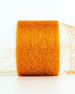 Netzband, orange, 70 mm breit - outdoor-baender, netzband, geschenkband-einfarbig, dekoband