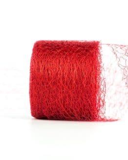 Netzband, rot, 70 mm breit - outdoor-baender, netzband, geschenkband-einfarbig, dekoband