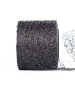 Netzband, schwarz, 70 mm breit - outdoor-baender, netzband, geschenkband-einfarbig, dekoband