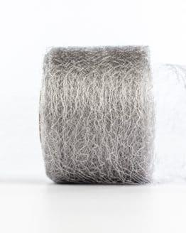 Netzband, silber, 70 mm breit - outdoor-baender, netzband, geschenkband-einfarbig, dekoband