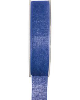 Organzaband BUDGET königsblau, 7 mm x 20 m Rolle - organzaband-einfarbig
