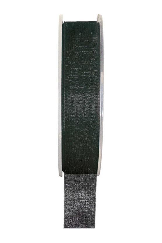 Organzaband BUDGET schwarz, 7 mm x 20 m Rolle - organzaband-einfarbig