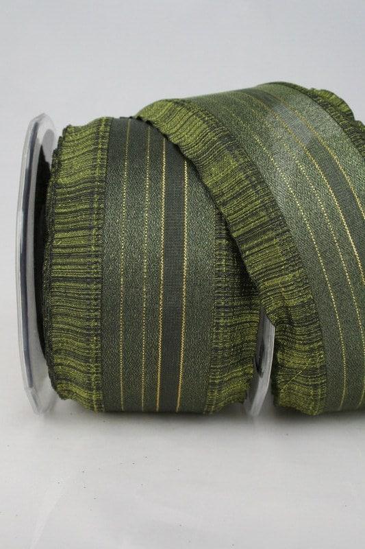 Organzaband mit Rüschen, dunkelgrün, 60 mm - weihnachtsband, organzaband-weihnachten, geschenkband-weihnachten
