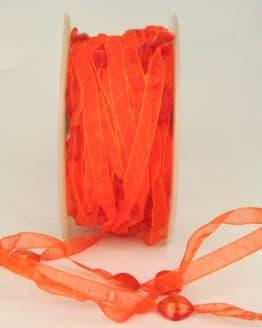 Organzaband mit Perlen, orange, 8 mm - organzaband, 20-rabatt