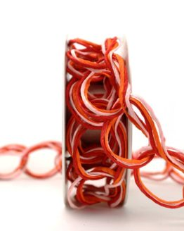 Papierdrahtgirlande rot-orange-rosa, 40 mm - gitterband