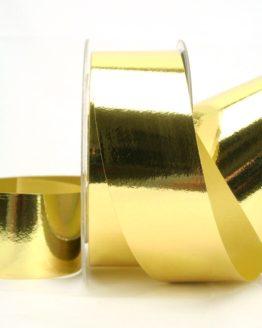 Wetterfestes Schleifenband gold metallic, 40 mm - weihnachtsband-gold-silber, weihnachtsband, polyband, outdoor-baender, geschenkband-weihnachten
