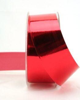 Wetterfestes Schleifenband rot metallic, 40 mm - weihnachtsband-gold-silber, weihnachtsband, polyband, outdoor-baender, geschenkband-weihnachten