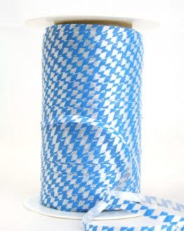 Poly-Ringelband 5 mm, weiß-blau Bayernraute - polyband, outdoor-baender, oktoberfest, nationalband