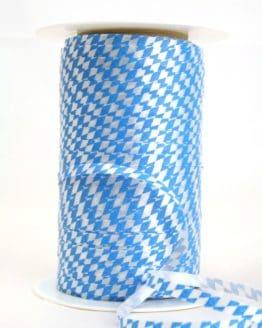 Poly-Ringelband 5 mm, weiß-blau Bayernraute - polyband, outdoor-baender, oktoberfest, nationalband