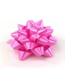 Polyband-Rosette, pink, 60 mm groß, 25 Stück - polyband, fertigschleifen