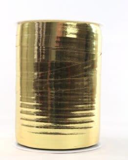 Polyringelband (Kräuselband) gold metallic, 10 mm - weihnachtsband-gold-silber, weihnachtsband, polyband, geschenkband-weihnachten-dauersortiment, geschenkband-weihnachten